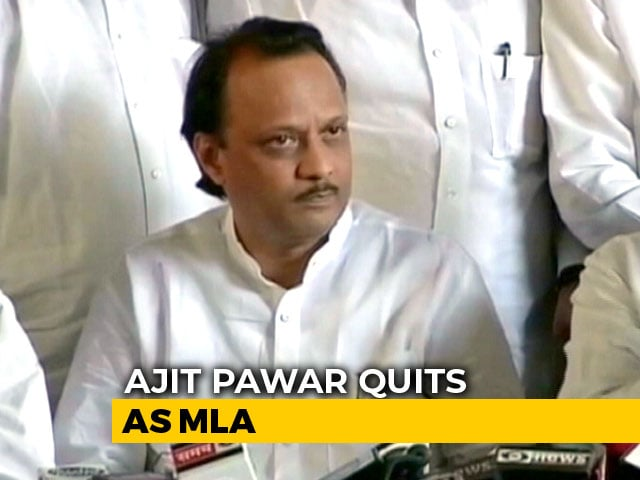 Video : NCP's Ajit Pawar, Named In Money-Laundering Case, Quits As Maharashtra MLA
