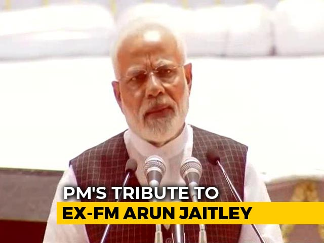 "Video : ""Able Leader, Encyclopaedia, Close Friend"": PM's Tribute To Arun Jaitley"
