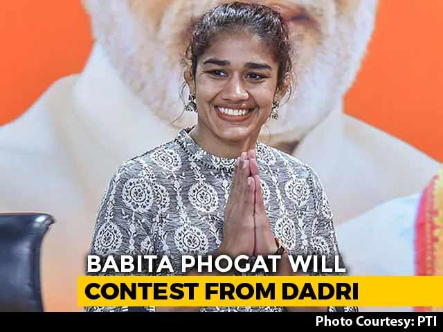 Video : Wrestlers Babita Phogat, Yogeshwar Dutt Among BJP's Haryana Candidates