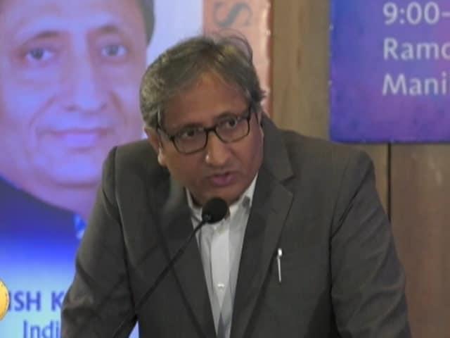"Video : NDTV's Ravish Kumar On ""Power Of Citizen Journalism"""