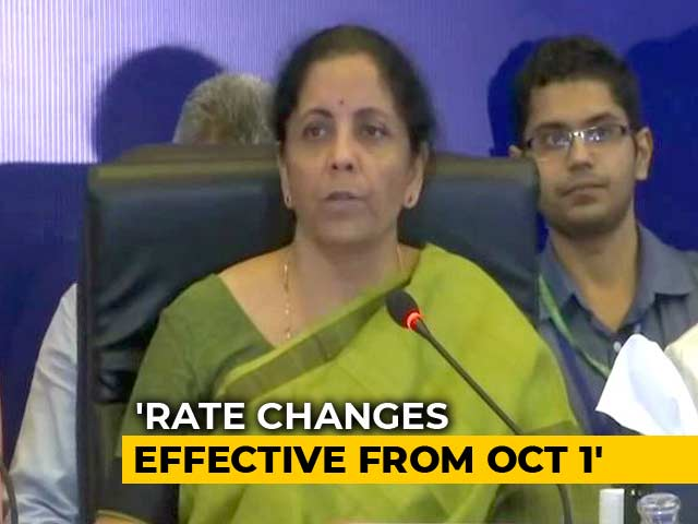 Video : GST Rates Cut On Hotel Room Tariffs, Tax Hiked On Caffeinated Drinks