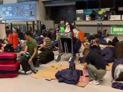 17,000 Passengers Stranded At Tokyo's Narita Airport Due To Typhoon Faxai