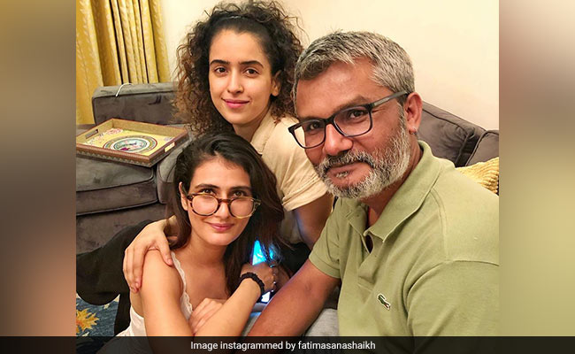 It Was A Dangal Reunion Of Sorts For Fatima Sana Shaikh, Sanya Malhotra And Nitesh Tiwari