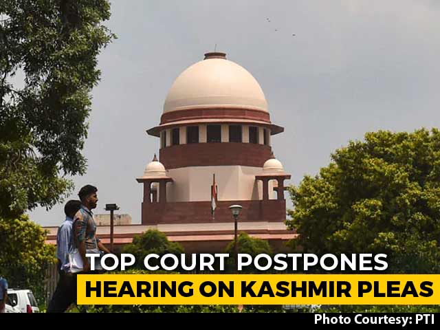 "Video : ""No Time"" Due To Ayodhya Hearings: Top Court Puts Off J&K Cases By A Day"
