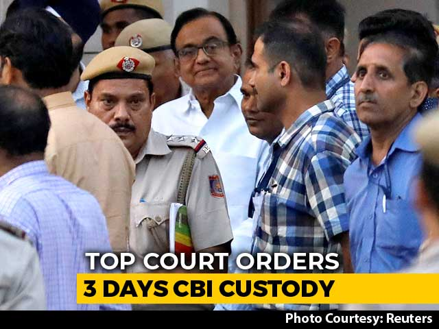 Video : No Tihar Jail For P Chidambaram. Supreme Court Extends His CBI Custody