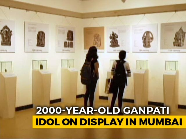 Video : 2,000-Year-Old Ganpati Idol A Crowd Puller At Mumbai Exhibition