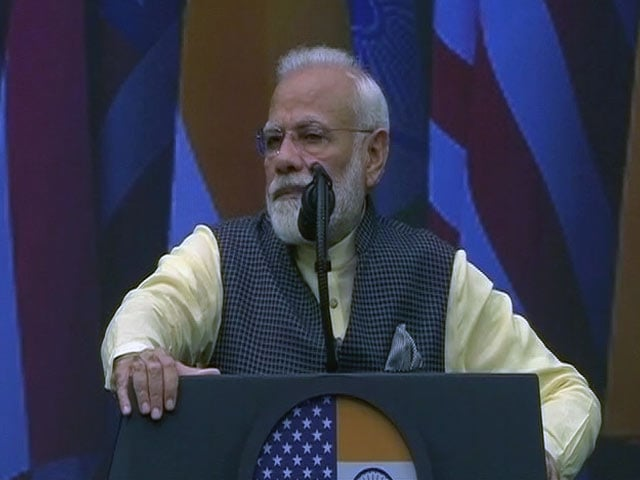 """Video : """"Where Were 9/11, 26/11 Plotters Found?"""": PM Slams Pak, Trump In Audience"""