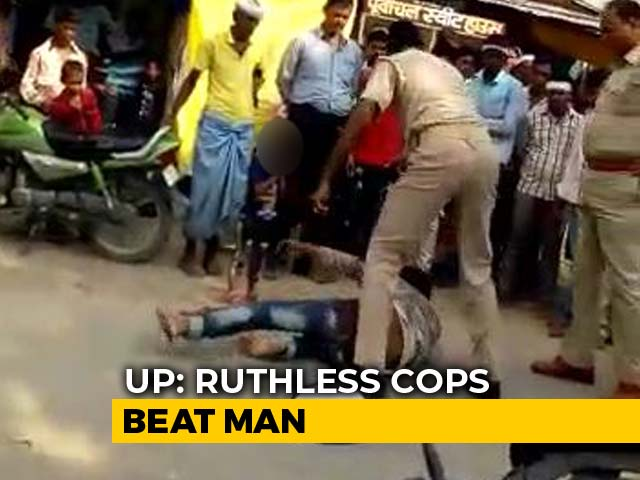 Video : After Video Of Beating, 2 UP Cops Charged For Trying To Kill Man On Road