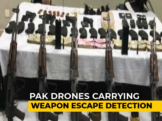 Video : Pak Drones Flew Low, Dropped Weapons In 8 'Sorties' In Punjab: Sources