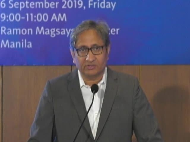 "Video : ""Citizen Journalism Under Constant Threat: Ravish Kumar At Magsaysay Award"