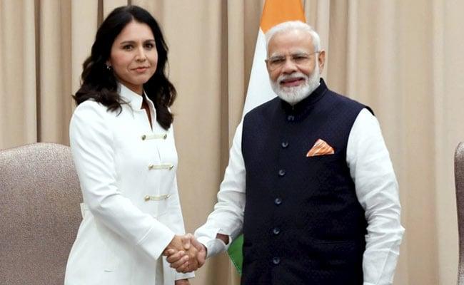 PM Modi Meets US Presidential Candidate Tulsi Gabbard In New York