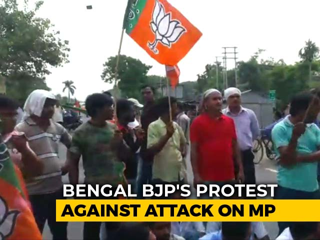 Video : BJP Workers Clash With Cops In Bengal After MP Alleges Attack By Officer