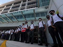 Hong Kong School Students Form Human Chain After Weekend Of Protests