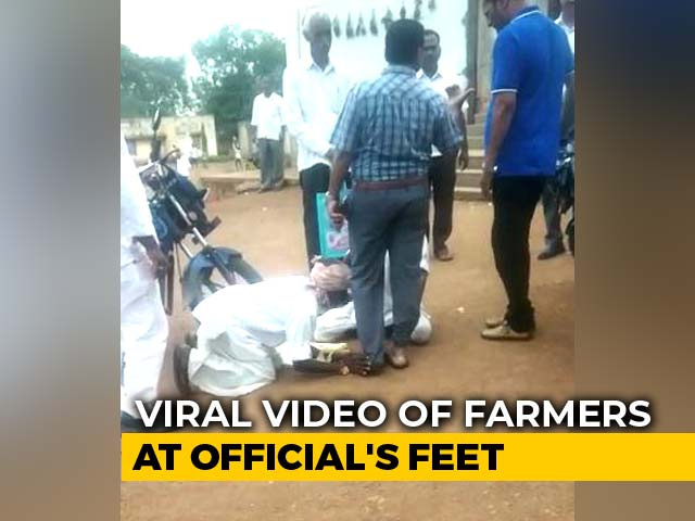 Video : On Camera, Telangana Farmers Grovel At Officer's Feet Over Ancestral Land