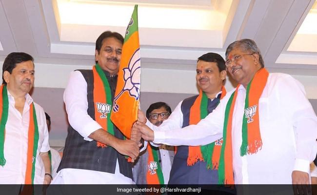 एक दिन पहले कांग्रेस छोड़ने वाले महाराष्ट्र के पूर्व मंत्री हर्षवर्धन पाटिल BJP में शामिल