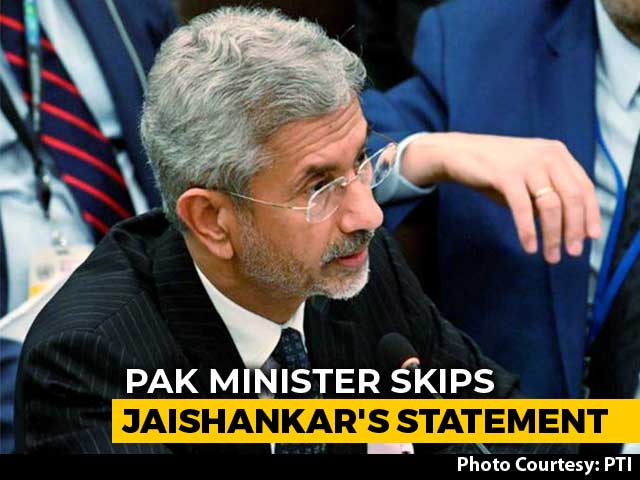 Video : Pak Minister Skips S Jaishankar's SAARC Address, Points To Kashmir