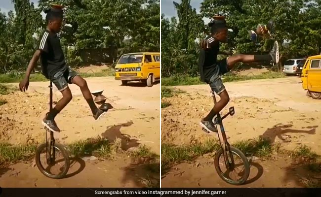 Boy's Incredible Stunt While Balancing On Unicycle Impresses Viewers