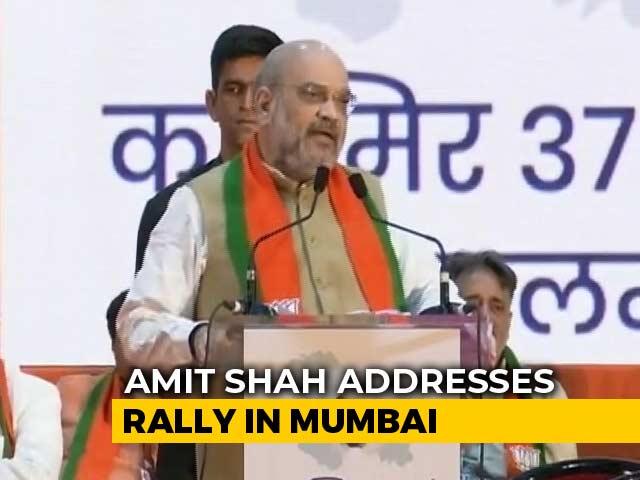 "Video : ""Congress Sees Politics, We See Patriotism"": Amit Shah On Kashmir Move"