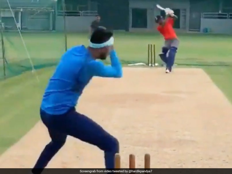 "Hardik Pandya Pokes Fun At Brother Krunal Pandya After ""Almost Knocking Head Off"". Watch"