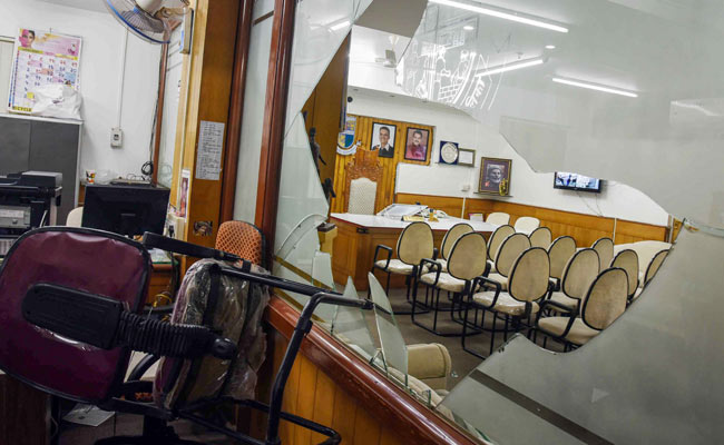 Mayor's Office Vandalised After Clash Between Shiv Sena, BJP Members In Thane