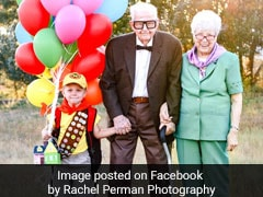 5-Year-Old's <i>'Up'</i>-Themed Photoshoot With Great-Grandparents Is Viral