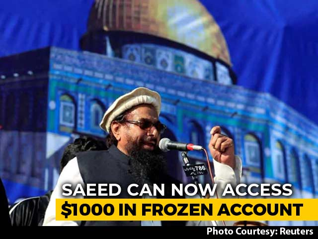 "Video : Pak Asks UN To Allow Hafiz Saeed's Monthly Expenses For ""Family Of Four"""