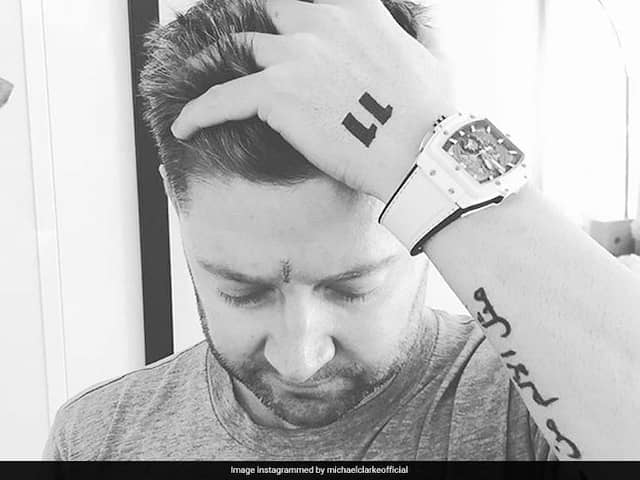 Michael Clarke posts photo after getting skin cancer removed