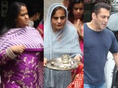 Ganesh Chaturthi 2019: Arpita, Salman Khan Welcome Bappa; Maheep Kapoor, Neelam Kothari And Others Visit