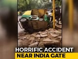 Video : 2 Dead As Truck Hits Autorickshaws, Pedestrians Near India Gate