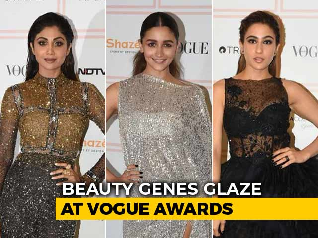 Alia, Shilpa And Sara Turn Up The Heat On The Vogue Beauty Awards Red Carpet