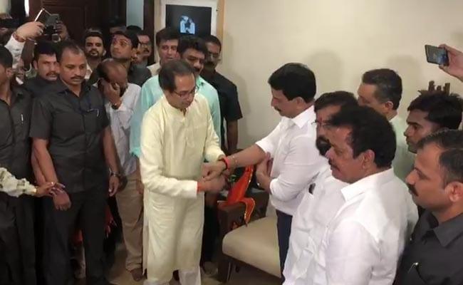 """Encounter Specialist"" Joins Uddhav Thackeray's Shiv Sena Ahead Of Polls"