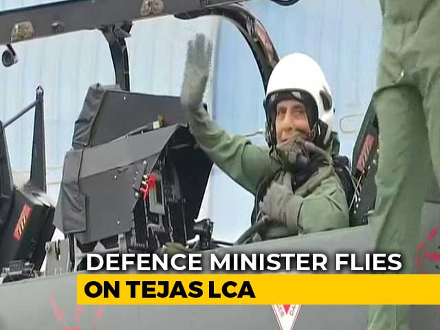 Video : Rajnath Singh Flies In Fighter Jet Tejas, First Defence Minister To Do So