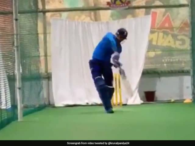 Krunal Pandya Issues Warning To Rivals With Hard-Hitting Shots In Nets. Watch Video