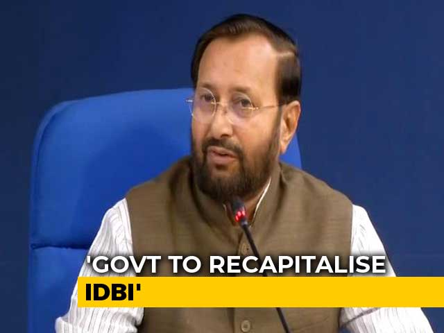 Video : IDBI Bank To Get Rs 9,300-Crore Fund Infusion From Government, LIC: Prakash Javadekar