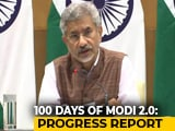 Video : Foreign Minister S Jaishankar On 100 Days Of Modi Government