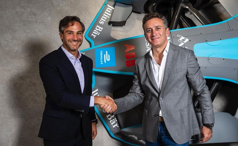(L-R) New Formula E CEO Jamie Reigle with series founder Alejandro Agag