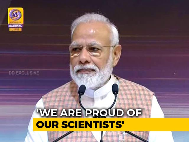 "Video : PM Modi, On Chandrayaan Heartbreak, Tells ISRO, ""India With You"""