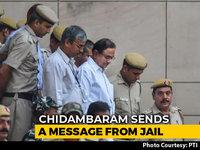 "Video : ""People Ask Me..."": P Chidambaram Keeps Tweets Coming From Tihar Jail"
