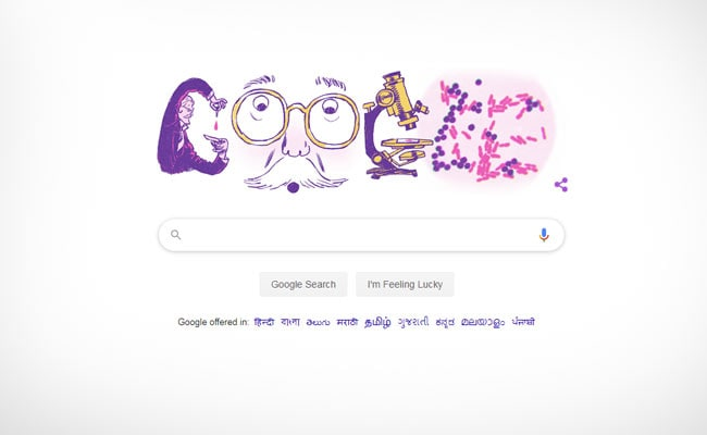 Google Doodle Celebrates Danish Microbiologist Hans Christian Gram's 166th Birthday
