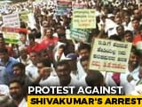 Video : Thousands Flood Bengaluru To Protest DK Shivakumar's Arrest, Traffic Hit