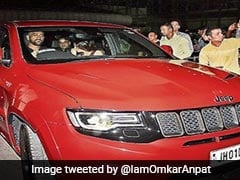 "MS Dhoni Spotted Driving His ""Red Beast"" For The First Time"