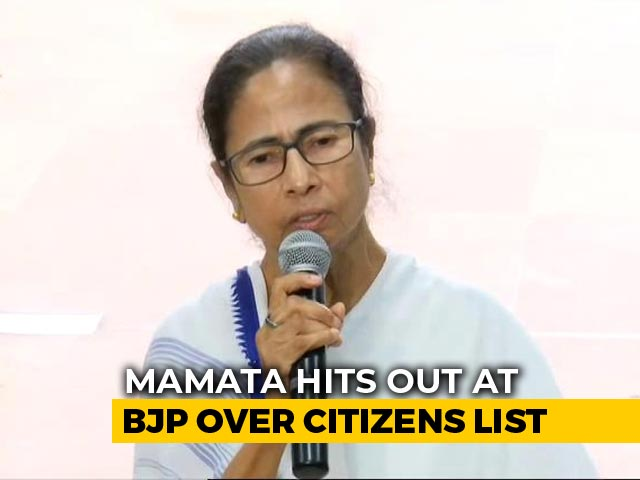 "Video : ""Own Up To NRC Fiasco"": Mamata Banerjee Slams BJP Over Citizens' List"
