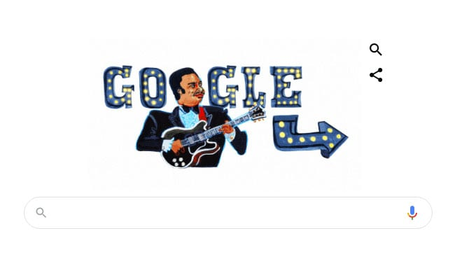Google Doodle Remembers Iconic American Singer BB King On 94th Birthday