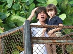 Shah Rukh Khan And AbRam Bid Bappa Adieu. See Pics