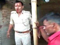 मुजफ्फरपुर: गुस्साई भीड़ ने पुलिसवालों को दौड़ा-दौड़ाकर पीटा, जान बचाने के लिए करनी पड़ी फायरिंग