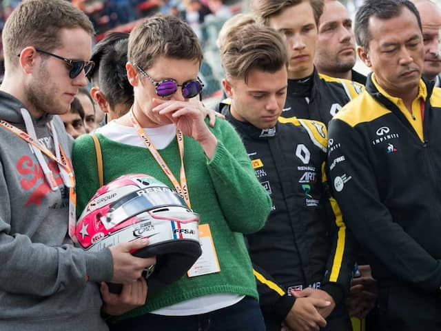A Minutes Silence In Tribute To Formula Two Crash Victim Anthoine Hubert