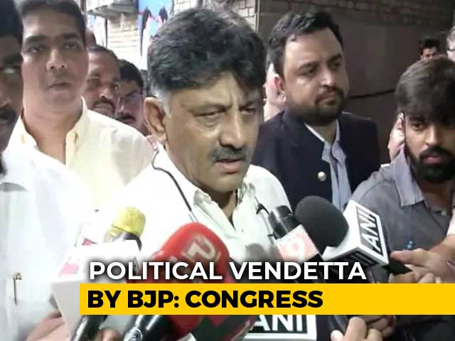 "Video : ""Vendetta Of Worst Kind"": Karnataka Congress On DK Shivakumar's Grilling"