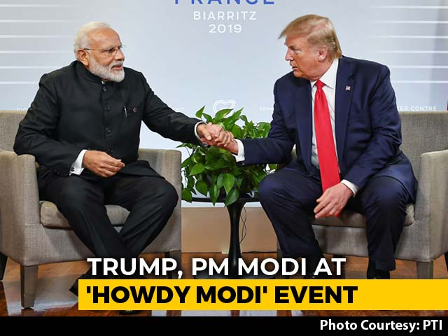 "Video : Trump To Join PM At 'Howdy, Modi' Texas Event ""To Emphasize Strong Ties"""