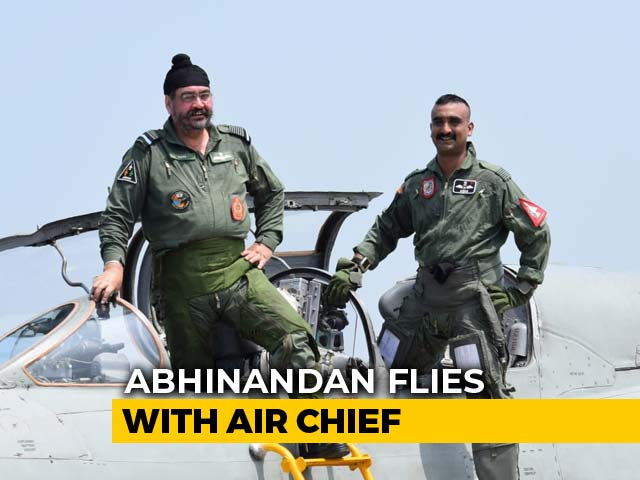 "Video : ""We Both Fought Pakistanis"": Air Chief Flies With Abhinandan Varthaman"