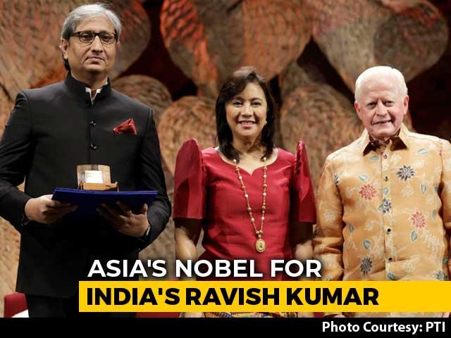 Video : NDTV's Ravish Kumar Receives 2019 Ramon Magsaysay Award